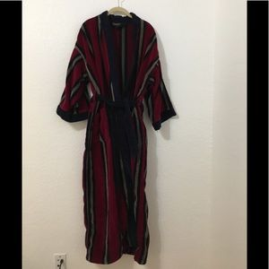Vintage Christian Dior Striped Thick Robe